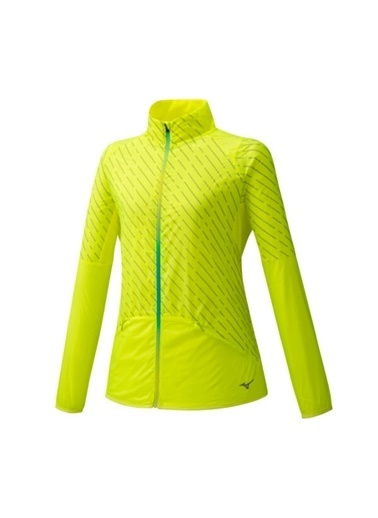 Mizuno Reflect Wind Jacket Kadın Yağmurluk Sarı Sarı